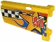Part No: 44351pb013  Name: Technic, Panel Fairing #21 Large Long, Small Hole, Side B with Checkered Flag, Stars, Blue Flames and '51' Pattern (Sticker) - Set 8651