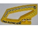 Part No: 45785pb01  Name: Technic, Panel RC Car Panel Flexible Left with Dirt Crusher Logo and Gray Stripes on Yellow and Black Background Pattern (Stickers) - Set 8369-1