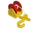 Part No: 4654c04  Name: Duplo Hose Reel Holder 2 x 2 with Red Drum, Yellow Hook, String