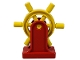 Part No: 4658c01  Name: Duplo Boat Helm with Red Duplo Boat Helm Support (4658 / 4657)
