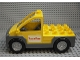 Part No: 47438c01pb03  Name: Duplo Truck Pickup Flatbed with Dark Bluish Gray Base with Pizza Planet Logo Pattern