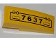 Part No: 50950pb042R  Name: Slope, Curved 3 x 1 No Studs with Hatch and '7637' Pattern Model Right Side (Sticker) - Set 7637
