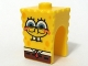 Part No: 54872pb07  Name: Minifigure, Head, Modified SpongeBob SquarePants with Half-Open Eyes Pattern
