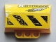 Part No: 61069pb010L  Name: Technic, Panel Engine Block Half / Side Intake with 'XSTREAM', 'CELLFISH', Black and Yellow Danger Stripes Pattern Model Left (Stickers) - Set 8490