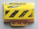 Part No: 61069pb010R  Name: Technic, Panel Engine Block Half / Side Intake with 'XSTREAM', 'CELLFISH', Black and Yellow Danger Stripes Pattern Model Right (Stickers) - Set 8490