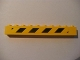 Part No: 6111pb008R  Name: Brick 1 x 10 with Black and Yellow Danger Stripes Pattern Right (Sticker) - Set 7633