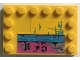 Part No: 6180pb101  Name: Tile, Modified 4 x 6 with Studs on Edges with Worn Paint Blue and Pink Pattern (Sticker) - Set 75157