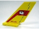 Part No: 6239pb017  Name: Tail Shuttle with Mail Envelope and 'NN-7732' Pattern on Both Sides (Stickers) - Set 7732