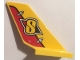 Part No: 6239pb070  Name: Tail Shuttle with Yellow 'S' on Yellow and Red Rudder Pattern on Both Sides (Stickers) - Set 60144