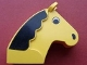 Part No: 6244px1  Name: Horse Head 2 x 6 x 4 1/2 with Black Mane Pattern