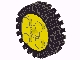 Part No: 6248c01  Name: Wheel FreeStyle with Technic Pin Hole with Black Tire 24mm D. x 8mm Offset Tread (6248 / 3483)