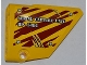 Part No: 64680pb005  Name: Technic, Panel Fairing #14 Large Short Smooth, Side B with  'AERIAL CAPTURE UNIT RP-5886' on Dark Red Tiger Stripes Pattern (Sticker) - Set 5886