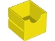 Part No: 6471  Name: Duplo, Furniture Drawer 2 x 2 with Semicircle Cutout