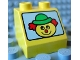 Part No: 6474pb06  Name: Duplo, Brick 2 x 2 Slope 45 with Face with Clown Pattern