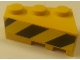 Part No: 6565pb17  Name: Wedge 3 x 2 Left with Black and Yellow Danger Stripes Pattern (Sticker) - Pneumatic Crane Truck