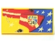 Part No: 87079pb0052R  Name: Tile 2 x 4 with Stars and Stripes, 'WGP 24' Pattern Model Right Side