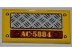 Part No: 87079pb0088  Name: Tile 2 x 4 with Tread Plate, 4 Rivets and 'AC-5884' Pattern (Sticker) - Set 5884