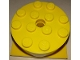 Part No: 87081c04  Name: Turntable 4 x 4 x 1 1/3 Top with Yellow Square Base, Locking (87081 / 61485)