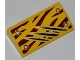 Part No: 88930pb020  Name: Slope, Curved 2 x 4 x 2/3 with Bottom Tubes with 4 Rivets and Claw Scratch Marks on Dark Red Tiger Stripes Pattern (Sticker) - Set 5887