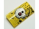 Part No: 88930pb093  Name: Slope, Curved 2 x 4 x 2/3 with Bottom Tubes with Skull Pattern (Sticker) - Set 9093