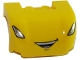 Part No: 93587pb09  Name: Vehicle, Mudguard 3 x 4 x 1 2/3 Curved with Front with Headlights and Open Smile with Teeth Pattern
