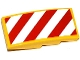 Part No: 93606pb032L  Name: Slope, Curved 4 x 2 with Red and White Danger Stripes Pattern Model Left Side (Sticker) - Set 60076
