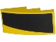 Part No: 93606pb049R  Name: Slope, Curved 4 x 2 No Studs with Thick Curved Black Stripe on Yellow Background Pattern Model Right Side (Sticker) - Set 75870