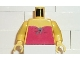 Part No: 973pb0061c01  Name: Torso Paradisa Red Halter Top Pattern / Yellow Arms / Yellow Hands