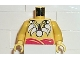 Part No: 973pb0063c01  Name: Torso Pirate Islanders with Bone Necklace Pattern / Yellow Arms / Yellow Hands