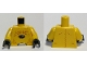 Lot ID: 166676914  Part No: 973pb0585c01  Name: Torso Alien with Skin Folds and Black Center Pattern / Yellow Arms / Black Hands