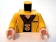Part No: 973pb0613c01  Name: Torso SW Jacket with Black Undershirt and Gold Medal Pattern / Yellow Arms / Light Flesh Hands
