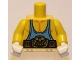 Part No: 973pb0666c01  Name: Torso Muscles with Medium Blue Tank Top and Belt Pattern / Yellow Arms / White Hands