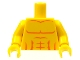 Part No: 973pb0722c01  Name: Torso Bare Chest with Muscles Outline Pattern / Yellow Arms / Yellow Hands
