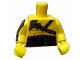 Part No: 973pb0936c01  Name: Torso Gladiator Armor with Leather Straps Pattern / Yellow Arm Left / Yellow Arm Right with Gold Armor Pattern / Yellow Hands