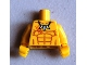 Part No: 973pb1091c01  Name: Torso Bare Chest with Muscles Outline and Tooth Necklace Pattern / Yellow Arms / Yellow Hands