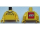 Part No: 973pb2032c01  Name: Torso Polo Shirt with Pocket with Pen and LEGO Logo on Reverse Pattern / Yellow Arms / Yellow Hands
