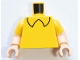Part No: 973pb4267c01  Name: Torso Black Shirt Collar Pattern / Light Nougat Arms with Yellow Short Sleeves / Light Nougat Hands