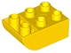Part No: 98252  Name: Duplo, Brick 2 x 3 with Curved Bottom