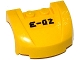 Part No: 98835pb016  Name: Vehicle, Mudguard 3 x 4 x 1 2/3 Curved Front with 'E-02' Pattern (Sticker) - Set 60093
