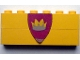 Part No: BA003pb05  Name: Stickered Assembly 6 x 1 x 2 with Triangular Shield with Crown Pattern (Sticker) - Sets 375 / 6075 - 2 Bricks 1 x 6