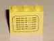 Part No: BA005pb01  Name: Stickered Assembly 3 x 1 x 2 with Bus Schedule Pattern (Sticker) - Set 379-1 - 2 Bricks 1 x 3