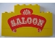 Part No: BA028pb01  Name: Stickered Assembly 8 x 1 x 4 with 'SALOON' Pattern (Sticker) - Set 365 - 3 Brick 1 x 8, 1 Brick 1 x 4