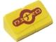 Part No: BA136pb03  Name: Stickered Assembly 2 x 1 x 2/3 with 'NITRO' on Yellow Background Pattern (Sticker) - Set 8666 - 2 Slope 30 1 x 1 x 2/3