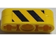 Part No: BA157pb01  Name: Stickered Assembly 1 x 3 with Black and Yellow Danger Stripes Pattern on Both Sides (Stickers) - Set 7905 - 2 Technic Liftarm 1 x 3 Thin