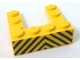 Part No: BA229pb01  Name: Stickered Assembly 4 x 4 x 1 with Black and Yellow Danger Stripes Pattern (Sticker) - Set 6383 - 1 Plate 1 x 2, 4 Plate 1 x 4