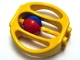 Part No: bab007  Name: Duplo Rattle Oval with Red/Blue Wheel