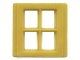 Part No: bwindow01  Name: Window 4 Pane for Slotted Bricks