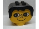 Part No: dup001  Name: Duplo Head Brick with Black Hair, Freckles and Eyes looking right (Snerk)