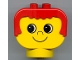 Part No: dup007  Name: Duplo Head Brick with Red Hair, no Freckles (eyes looking right)