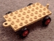 Part No: dupbaseold  Name: Duplo Car Base 4 x 8 x 1/3 with Closed Hitch End